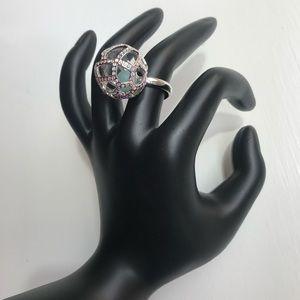 Swarovski Jade ball ring